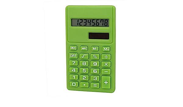 Amazon.com : eDealMax Oficina de escritorio pantalla LCD pequeña electrónica de bolsillo Calculadora básica Verde : Office Products
