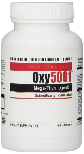 Eden Pond Oxy5001 Mega Thermogenic Weight Loss Supplement, 120 Count