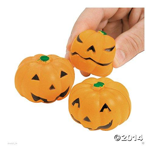 24 Halloween Jack O Lantern Pumpkin Mini Stress Balls Toys Party Favors