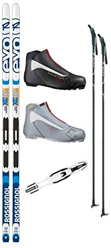 - Rossignol Evo XC 60 Tour Cross Country Ski Package (Skis, Boots, Bindings, Poles)