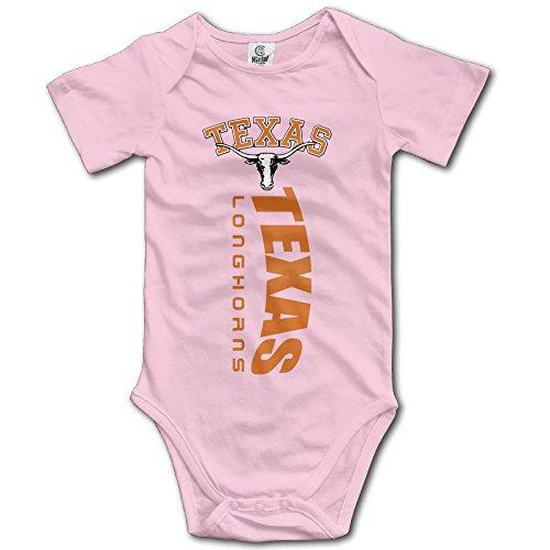 Boxer98 Boys & Girls Texas Longhorns College Short-Sleeve RomperPlaysuit ()