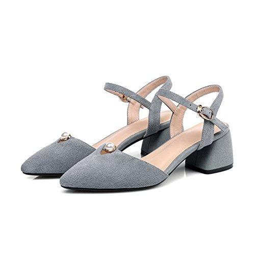 Sandales 36 Femme Compensées EU SLC03996 Gris Gris AdeeSu 5 H4xR5wf