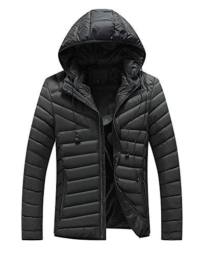 Doudoune Outwear Manteau Epais Hommes Capuche Parka Casual Noir Hoodie qwWRB1