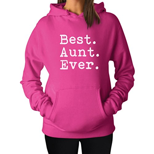 Tstars TeeStars - Best Aunt Ever - Gift For Auntie From Nephew or Niece Women Hoodie Medium (Aunt Sweatshirt)