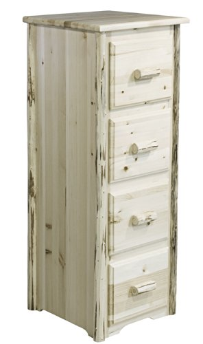 Montana Woodworks Collection 4-Drawer File Cabinet, Ready to Finish by Montana Woodworks