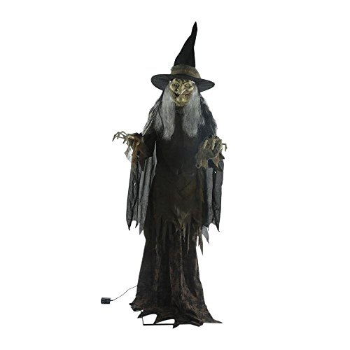 [84 in Lanky Witch Animated Lifesize Halloween Prop] (Halloween Animatronics)