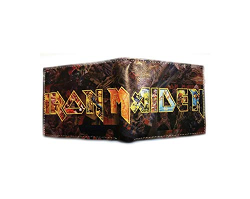 Ironmaiden Music Band Mens Boys Comic Cartoon Wallet with Gift Box