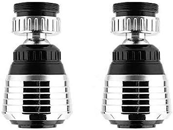 Aireador de Agua de 49 mm 2 Modos para Cocina Ba/ño Accesorio de Extensi/ón de Grifo Cromado WJUAN Regulador de Chorro de Ahorro de Agua Colador de Grifo Giratorio de 360 Grados