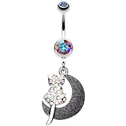 Sold Individually Blackline Dreamcatcher 316L Colorline Steel Freedom Fashion Belly Button Ring