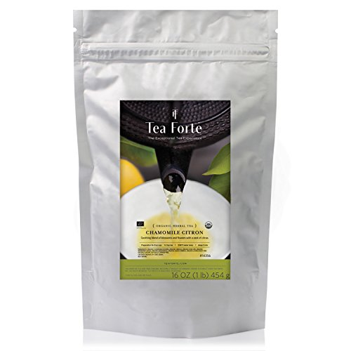 Tea Forté ONE POUND POUCH, Loose Bulk Tea - Chamomile Citron Herbal Tea -  Tea Forte