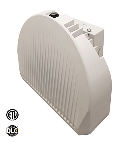 - LED 72W Wall Pack Light, 350-400W HPS/HID Replacement, 4000K, 5400 Lumens, Built-in Photocell Commercial and Industrial Outdoor Lighting, IP65 Waterproof - ETL & DLC