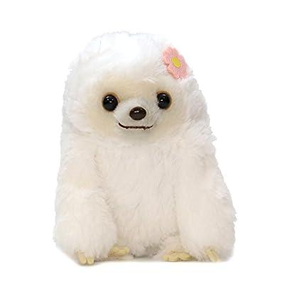 Amuse Sloth Plush Namakemono Mikke Nakamatachi Fuu (White) - Sloth Plush 5.1&Quot; Height - Authentic Kawaii From Japan - Amuse