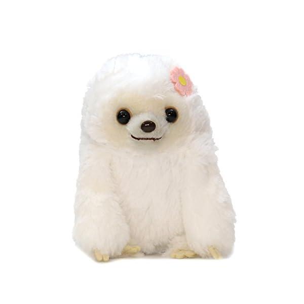 Amuse Sloth Plush Namakemono Mikke Nakamatachi Fuu (White) - Sloth Plush 5.1&Quot; Height - Authentic Kawaii From Japan -