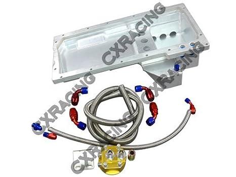 Filtro de aceite de aluminio cacerola reubicación Kit para LS1 LS Chevrolet Chevelle Swap: Amazon.es: Coche y moto