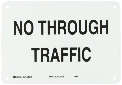 Brady 25858 Plastic Traffic Sign: Industrial, 7