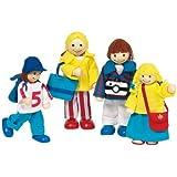 Goki - 51932 - Mini-poupées articulées - Famille en vacances