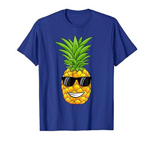 Hawaiian Pineapple T-Shirt with Sunglasses - Cool Tee Shirt