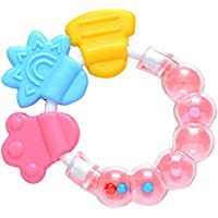 Teething Toys BPA Free Silicone Baby Teether for Sensory Exploration and Teething Relief Silicone Molar Bracelet Perfect…