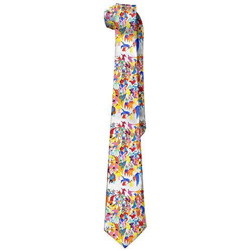 Dancing Bears Solid Silk Ties For Men Classic Formal Necktie