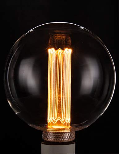- Vintage Round LED Light Bulb, Globe Clear Glass Bulb, Dimmable 3.5W Harwez RN G125/G40, 2200K Warm Lighting, E26 Medium Base, Decorate Restaurant Coffee Shop Kitchen
