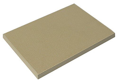 5-1/2'' x 7-3/16'' Large Ceramic Honeycomb Soldering Board Non-Asbestos Heat-Reflective Work Surface