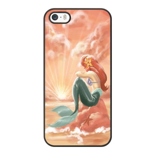 Coque,Coque iphone 5 5S SE Case Coque, We Heart It Mermaid Cover For Coque iphone 5 5S SE Cell Phone Case Cover Noir