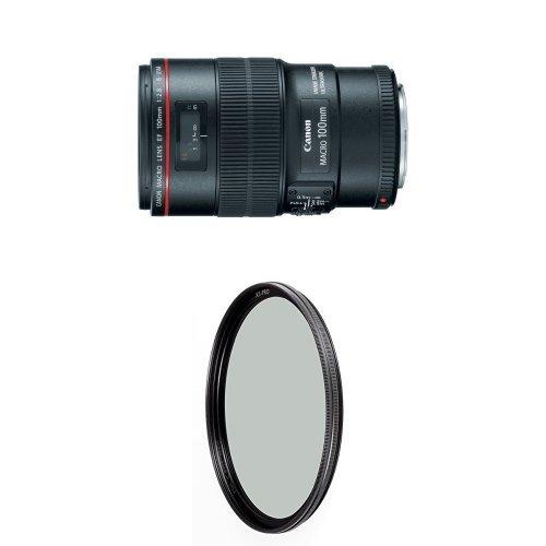 Canon EF 100mm f/2.8L IS USM Macro Lens for Canon Digital SLR Cameras w/ B+W 67mm XS-Pro HTC Kaesemann Circular Polarizer by Canon