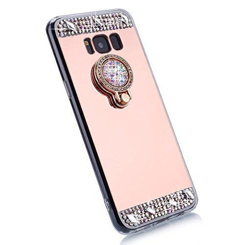 Galaxy de diamant J3 en Housse silicone Samsung pour de Etui plat extra 2015 en en J3 Mirror 2015 Samsung Samsung silicone Galaxy silicone Galaxy pour Housse ultra brillant 2015 protection Miroir J3 EUWLY pour 8aqTAaI