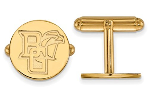 14k Yellow Gold Bowling Green State University Cuff Links, 15MM