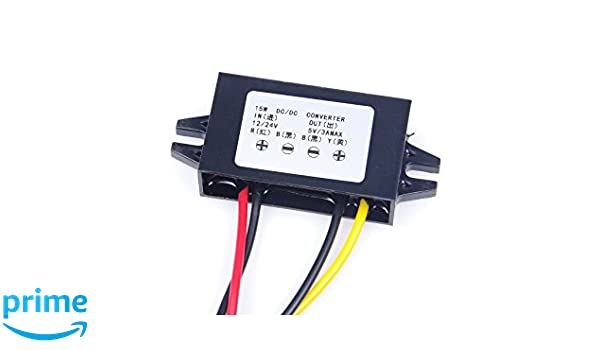 DC DC Converter Module 12V To 5V 3A 15W Duble USB Output Power Adapter T5