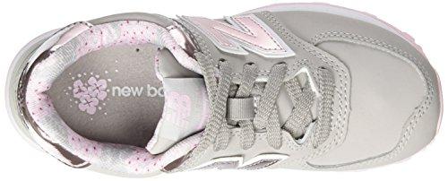 New Balance 574, Zapatillas infantil Gris (Grey/pink)