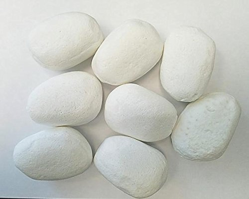 펄 화이트 세라믹 라이트 파이어 스톤 - 15 개 세트 - Ventless Vent-free 벽난로 및 Firepit 라이트 스톤/Pearl White Ceramic Lite Fire Stones - Set of 15 - Ventless Vent-free Fireplace and Firepit Lite Stones