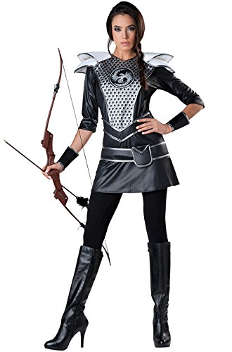 (InCharacter Costumes Women's Midnight Huntress Costume, Silver/Black,)