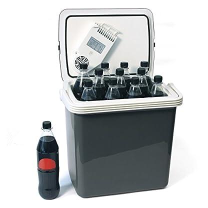 Dino KRAFTPAKET 131001 Kühlbox 12V 230V (WÄRMT & KÜHLT) HÖHE: 44cm GRÖSSE: 32-Liter (28L netto) Elektrische Kühlbox für Auto Boot Camping, A++ mit ECO-Modus 7