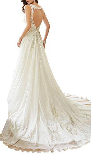 JYDress - Vestido - trapecio - para mujer blanco blanco 46