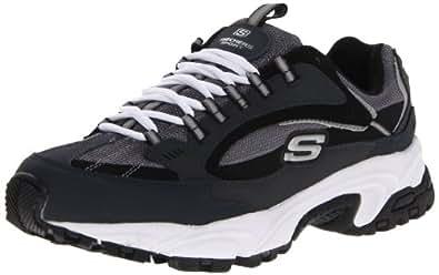 Skechers Sport Men's Stamina Nuovo Lace-Up Sneaker,Navy/Black,6.5 M US