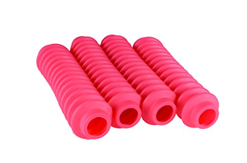 4 Shock Boots HOT PINK Fits Most Shocks for Jeep Wrangler JK All Models by Rukse