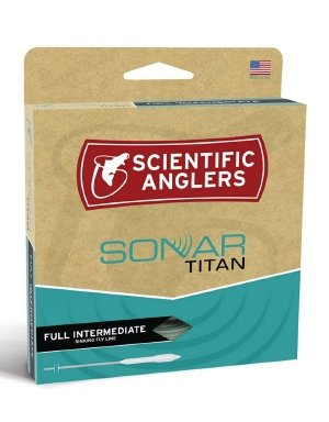 Scientific Anglers Sonar Titan Full Intermediate Fly Line Wf6I,Blue/Pale Green,WF6I