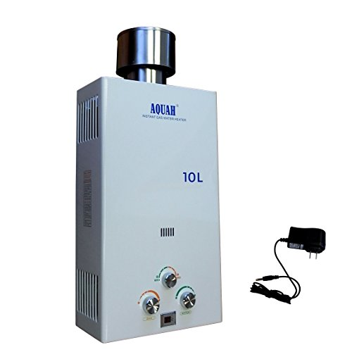 AQUAH Outdoor Natural Gas Tankless Water Heater 10 L / 2.7 GPM 45 Free Natural Gas Heater