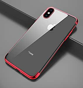 iPhone X Case, Slim Fit Clear PC Cover with Heavy Duty Protective TPU Bumper for iPhone X. (Clear)