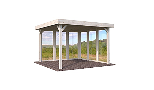 Cenador de madera Pérgola enrejado con techo, para el jardín ...
