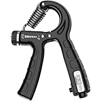Grip Strength Trainer, Hand Grip Strengthener with Adjustable Resistance (5-60kg), Forearm Exerciser Counting Non-Slip…