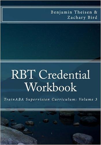RBT Credential Workbook (TrainABA Supervision Curriculum) (Volume 3 ...
