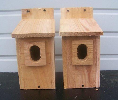 Cheap 2 Bluebird House with Cedar And..peterson Oval Opening..cedarnest