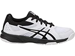 Help young players reach their peak volleyball game in the UPCOURT 3 GS shoe for kids. Designed for indoor courts, this ASICS volleyball shoe delivers comfort and style during play. Available in full and half sizes to ensure the best fit, thi...