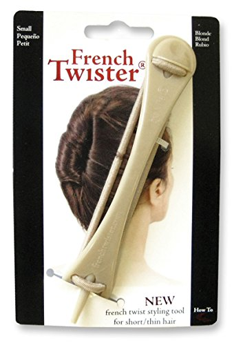 Vintage Twist - Mia French Twister-French Twist And Up Do Styling Tool-Small Size Great For Short and/or Thin Hair-Blonde Color-Measures 4.5 Inches Long By 0.25-0.75 Inches Wide-PATENTED (1 piece per package