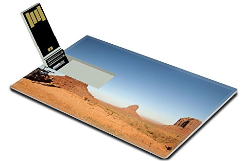 Luxlady 32GB USB Flash Drive 2.0 Memory Stick Credit Card Size IMAGE ID: 34801974 The Buttes of Monument Valley in Navajo Tribal Lands of Arizona and Utah USA (Aerial America Utah compare prices)