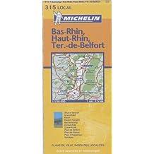 Michelin France, Bas-Rhin, Haut-Rhin, Territoire De Belfort Map No. 11315