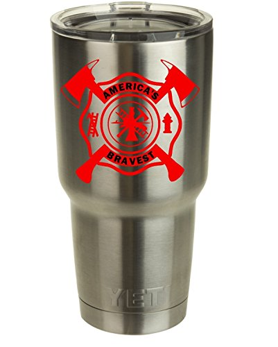 Firefighter Maltese Cross with Crossed Axes Decal
