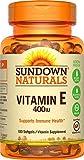 Sundown Naturals Vitamin E 400 IU Di-Alpha, 380 Synthetic Softgels (380 Count)